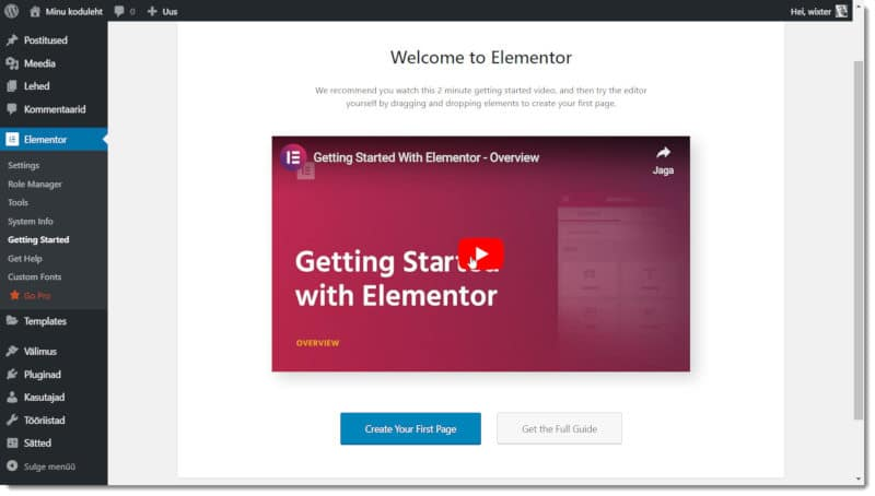 WordPress + Elementor