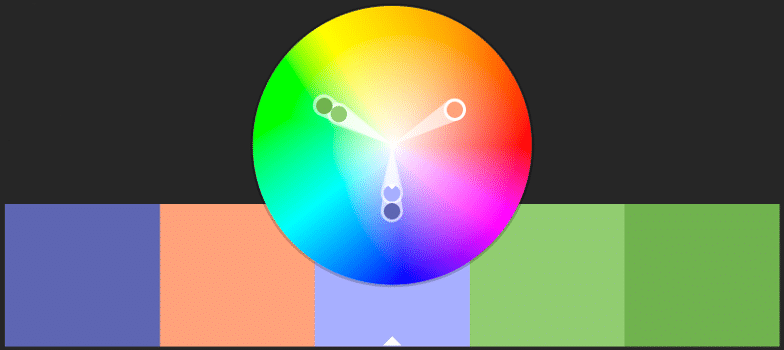 kolme värvi skeem veebidisainis